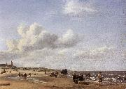 VELDE, Adriaen van de The Beach at Scheveningen wr oil painting artist