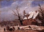 VELDE, Esaias van de Winter Landscape ew oil painting picture wholesale