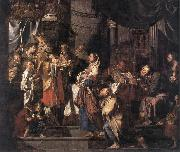 VERHAGHEN, Pieter Jozef The Presentation in the Temple a er oil painting artist