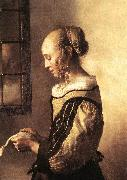 VERMEER VAN DELFT, Jan Girl Reading a Letter at an Open Window (detail) wt oil painting picture wholesale