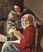 VERMEER VAN DELFT, Jan Girl Interrupted at Her Music (detail) w oil painting picture wholesale