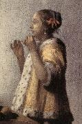 VERMEER VAN DELFT, Jan Woman with a Pearl Necklace (detail)  gff oil painting picture wholesale