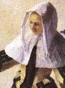 VERMEER VAN DELFT, Jan Young Woman with a Water Jug (detail) r oil painting picture wholesale