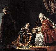 VICTORS, Jan Hannah Giving Her Son Samuel to the Priest ar oil painting artist