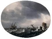VLIEGER, Simon de Stormy Sea ewt oil painting picture wholesale