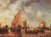 VLIEGER, Simon de Visit of Frederick Hendriks II to Dordrecht in 1646 asr oil painting picture wholesale