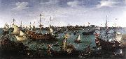 VROOM, Hendrick Cornelisz. The Arrival at Vlissingen of the Elector Palatinate Frederick V wr oil painting picture wholesale