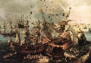 VROOM, Hendrick Cornelisz. Battle of Gibraltar qe oil painting picture wholesale