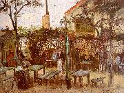 Vincent Van Gogh Terrace of the Cafe on Montmartre oil painting artist