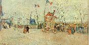 Vincent Van Gogh Street Scene in Montmartre oil painting picture wholesale
