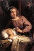 WIT, Jacob de Adoration of the Shepherds (detail) oil painting artist