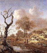 WYNANTS, Jan A Hilly Landscape wer oil painting artist