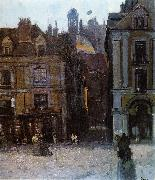 Walter Sickert The Quai Duquesne and the Rue Notre Dame, Dieppe oil painting picture wholesale