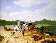 Wilhelm von Kobell Hunting Party on Lake Tegernsee oil painting picture wholesale