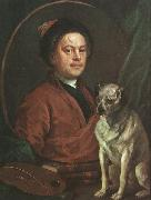 William Hogarth The Painter and his Pug oil painting artist