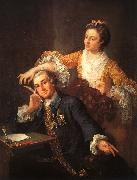 William Hogarth David Garrick and His Wife oil painting artist
