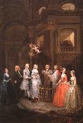 William Hogarth The Wedding of Stephen Beckingham and Mary Cox oil painting artist