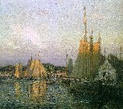 Wilson Irvine Evening in the Harbor oil painting picture wholesale