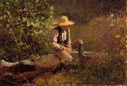 Winslow Homer The Whittling Boy oil painting artist