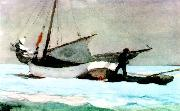 Winslow Homer Stowing the Sail, Bahamas oil painting picture wholesale