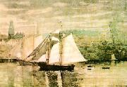 Winslow Homer Gloucester Schooners and Sloop oil painting picture wholesale