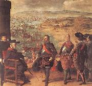 ZURBARAN  Francisco de Defence of Cadiz against the English oil painting artist
