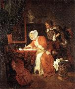 METSU, Gabriel The Letter-Writer Surprised sg oil painting artist