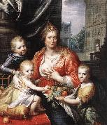 MOREELSE, Paulus Sophia Hedwig, Countess of Nassau Dietz, with her Three Sons sg oil painting picture wholesale