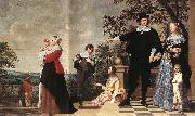 OOST, Jacob van, the Elder Portrait of a Bruges Family a oil painting picture wholesale