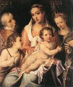 PASSEROTTI, Bartolomeo Holy Family with the Infant St John the Baptist and St Catherine of Alexandria f oil painting artist