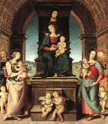 PERUGINO, Pietro The Family of the Madonna ugt oil painting picture wholesale