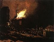 POEL, Egbert van der The Explosion of the Delft magazine af oil painting picture wholesale