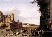 POELENBURGH, Cornelis van Ruins of Ancient Rome af oil painting artist