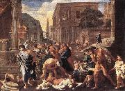 POUSSIN, Nicolas The Plague at Ashdod asg oil painting artist