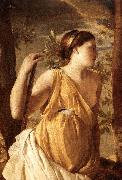 POUSSIN, Nicolas The Inspiration of the Poet (detail) af oil painting artist