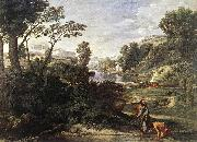 POUSSIN, Nicolas Landscape with Diogenes af oil painting artist