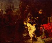 REMBRANDT Harmenszoon van Rijn Suzanna in the Bath oil painting picture wholesale