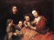 REMBRANDT Harmenszoon van Rijn Family Group oil painting artist
