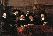 REMBRANDT Harmenszoon van Rijn Sampling Officials of the Drapers' Guild oil painting artist