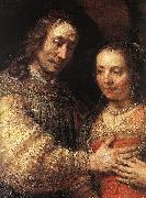 REMBRANDT Harmenszoon van Rijn The Jewish Bride (detail) dy oil painting picture wholesale