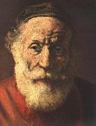 REMBRANDT Harmenszoon van Rijn Portrait of an Old Man in Red (detail) oil painting picture wholesale