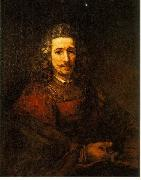 REMBRANDT Harmenszoon van Rijn Man with a Magnifying Glass du oil painting artist