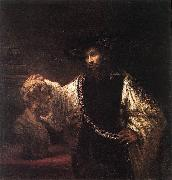 REMBRANDT Harmenszoon van Rijn Aristotle with a Bust of Homer  jh oil painting artist