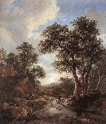 RUISDAEL, Jacob Isaackszon van Sunrise in a Wood at oil painting picture wholesale