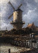 RUISDAEL, Jacob Isaackszon van The Windmill at Wijk bij Duurstede (detail) af oil painting picture wholesale