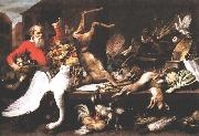 SNYDERS, Frans Still Life with Dead Game, Fruits, and Vegetables in a Market w t oil painting picture wholesale