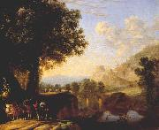 SWANEVELT, Herman van Italian Landscape with Bridge and Castle ar oil painting picture wholesale