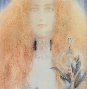 Fernand Khnopff Head of a Woman oil painting artist