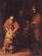 REMBRANDT Harmenszoon van Rijn The Return of the Prodigal Son oil painting artist