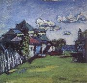 Vasily Kandinsky Suburbs of Moscow oil painting artist